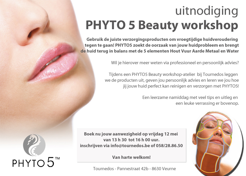 uitnodiging Phyto 5 Beauty workshop Tournedos